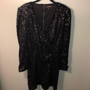 Express Black Sequin Dress